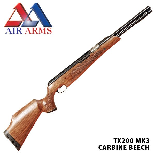 Air Arms TX200 MK3 Beech With FREE RIFLE SLIP, PELLETS AND TARGETS